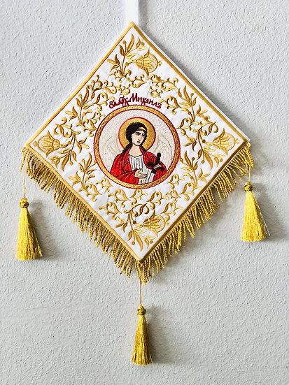 Epigonation, palitsa  for orthodox priest with icon of archangel