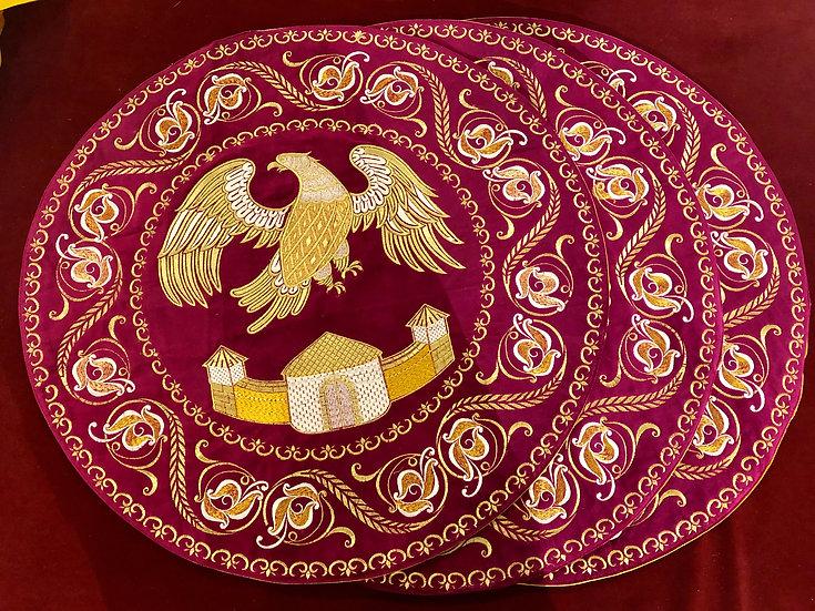 Fully embroidered bishops orlets