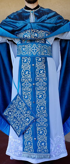 Orthodox priest vestments set fully embroidered