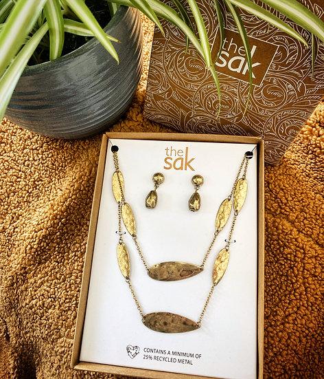 Boho finish sak jewelry set