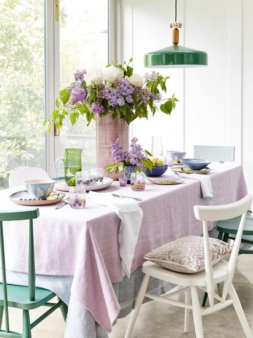 Beautiful pastel dining setting