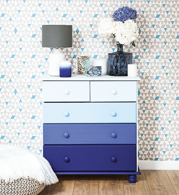 Ombre drawers for Style at Home