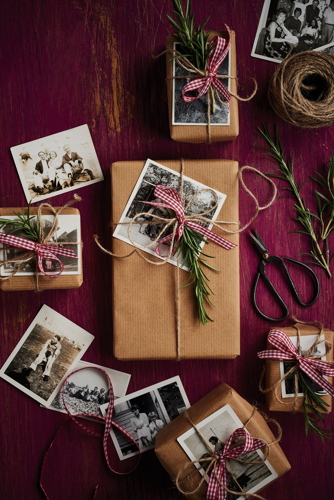 Handcrafted Christmas wrapping ideas