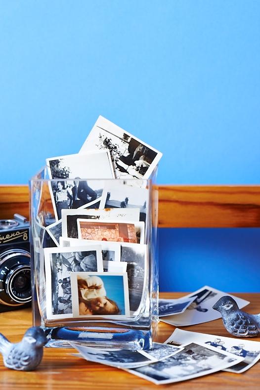 Candid jar of photographs