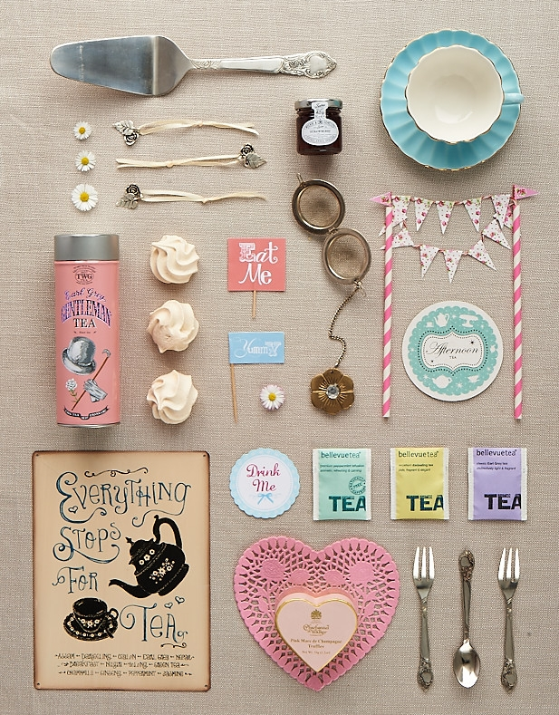 Afternoon tea flat-lay for Homemaker
