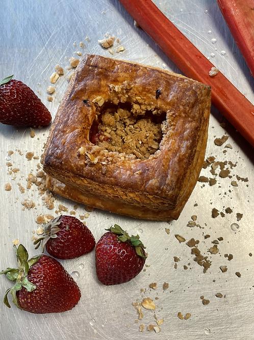 Strawberry Apricot Crumb Croissant