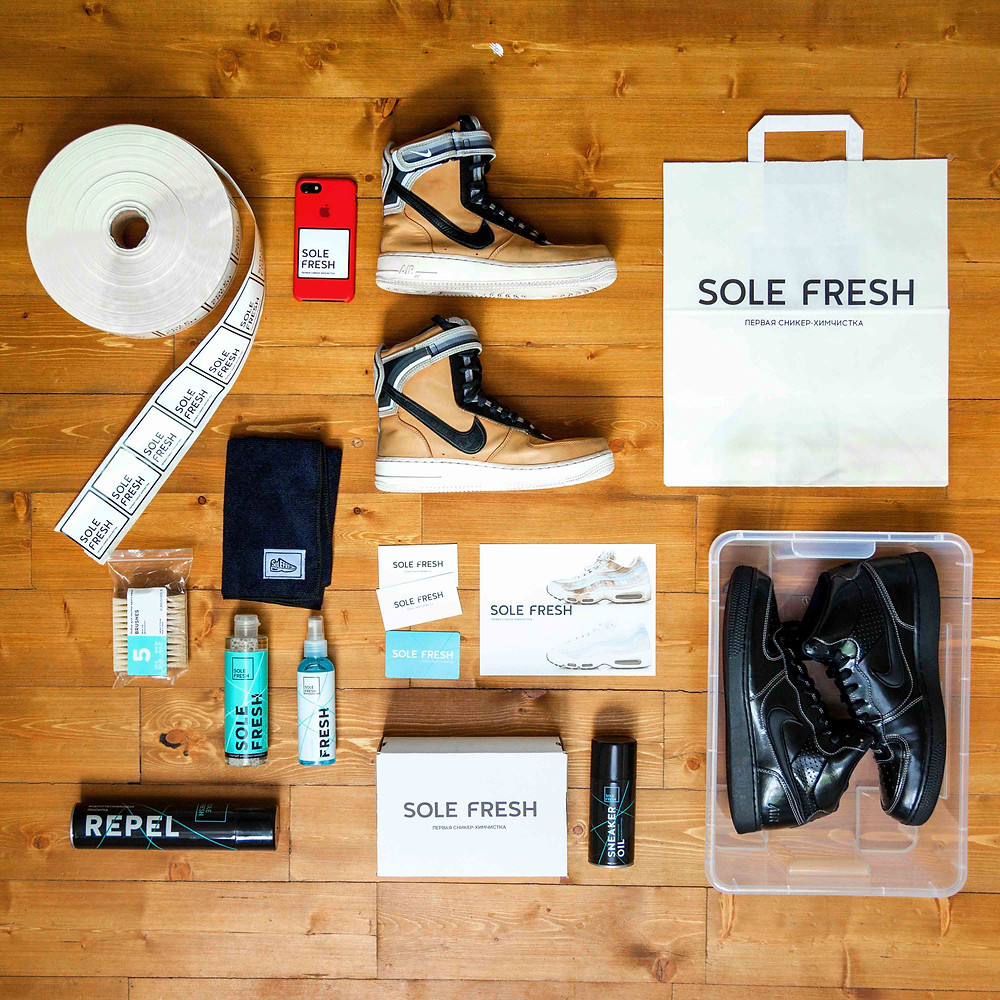 Essentials, Sole Fresh, Алматы химчистка, обувь