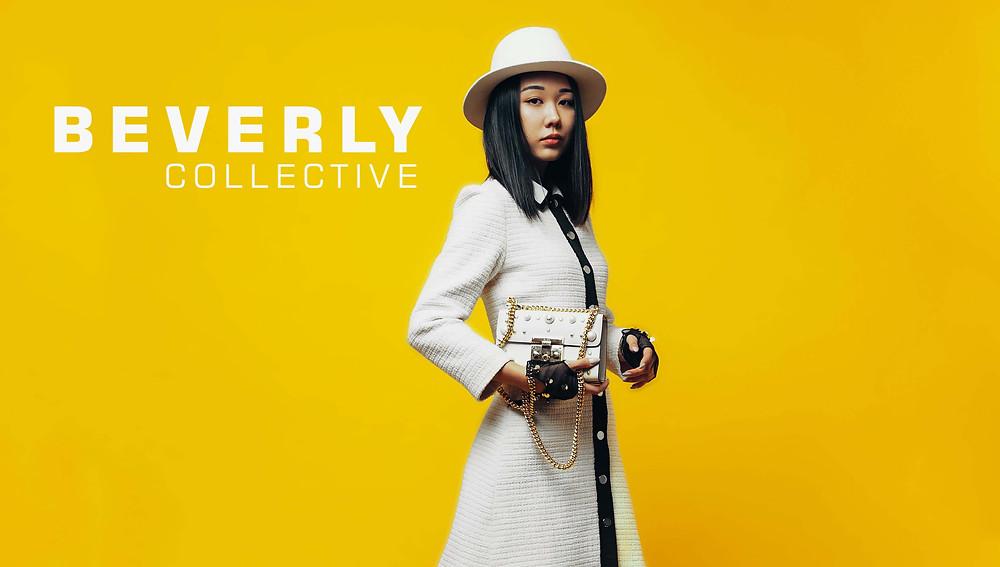 Beverly Collective, Almaty Fashion, девушка в шляпе, белая сумочка