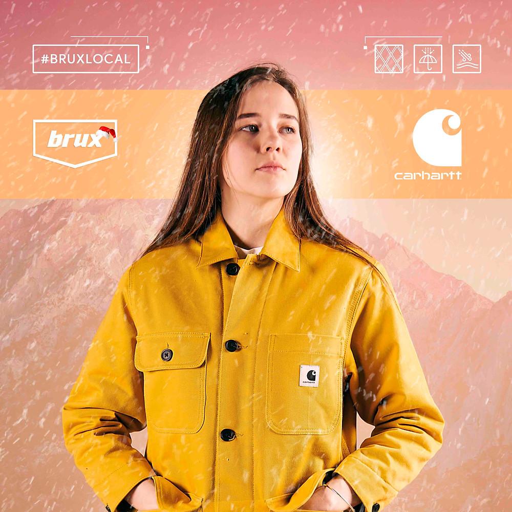 Carhartt Jasper Twill, Пальто Carhartt, Almaty fashion, желтое пальто