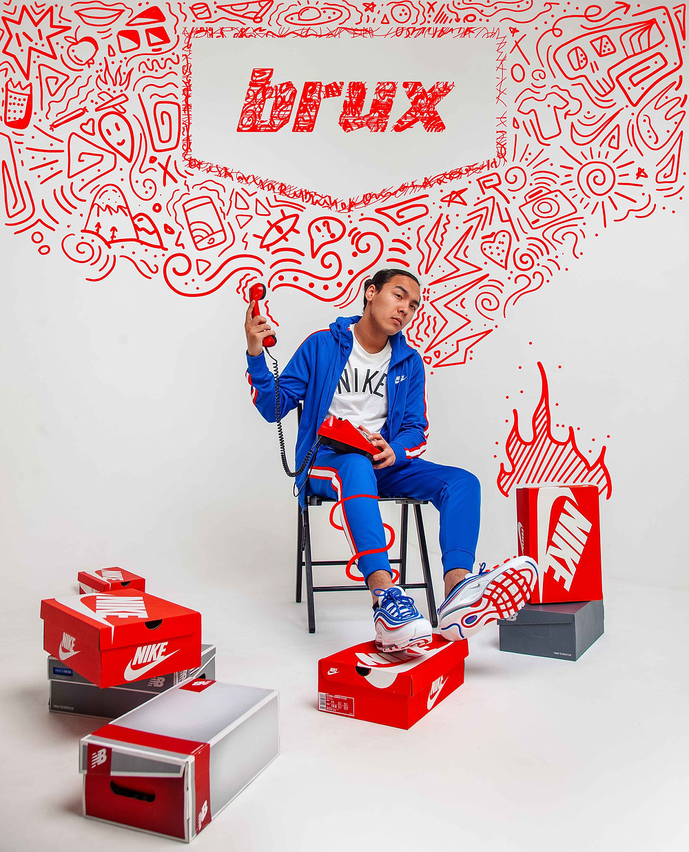 Nike Air Max 97, Brux, Nike,  Синий спортивный костюм Nike