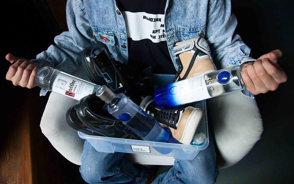 Очищение обуви, Кроссовки в коробке