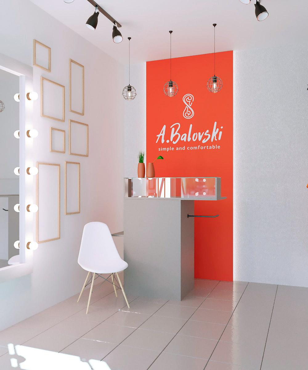 A.Balovski, бутик сувениров, визуализация, дизайн интерьера