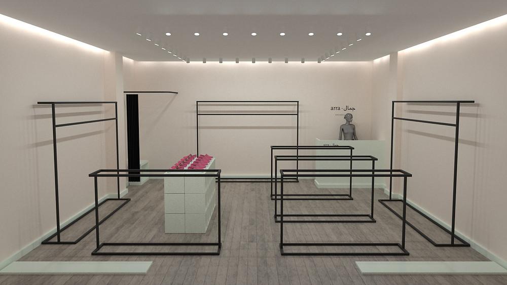 Arra, Vizualization market, визуализация магазина казахстан, дизайнер интерьера магазинов алматы