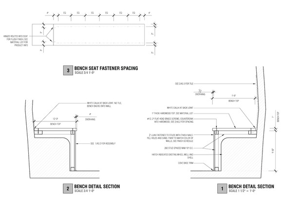 CONSTRUCTION DRAWINGS: BENCH SEAT DETAIL