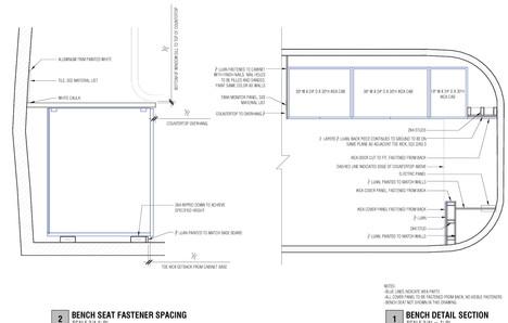 CONSTRUCTION DRAWINGS: COUNTERTOP DETAIL
