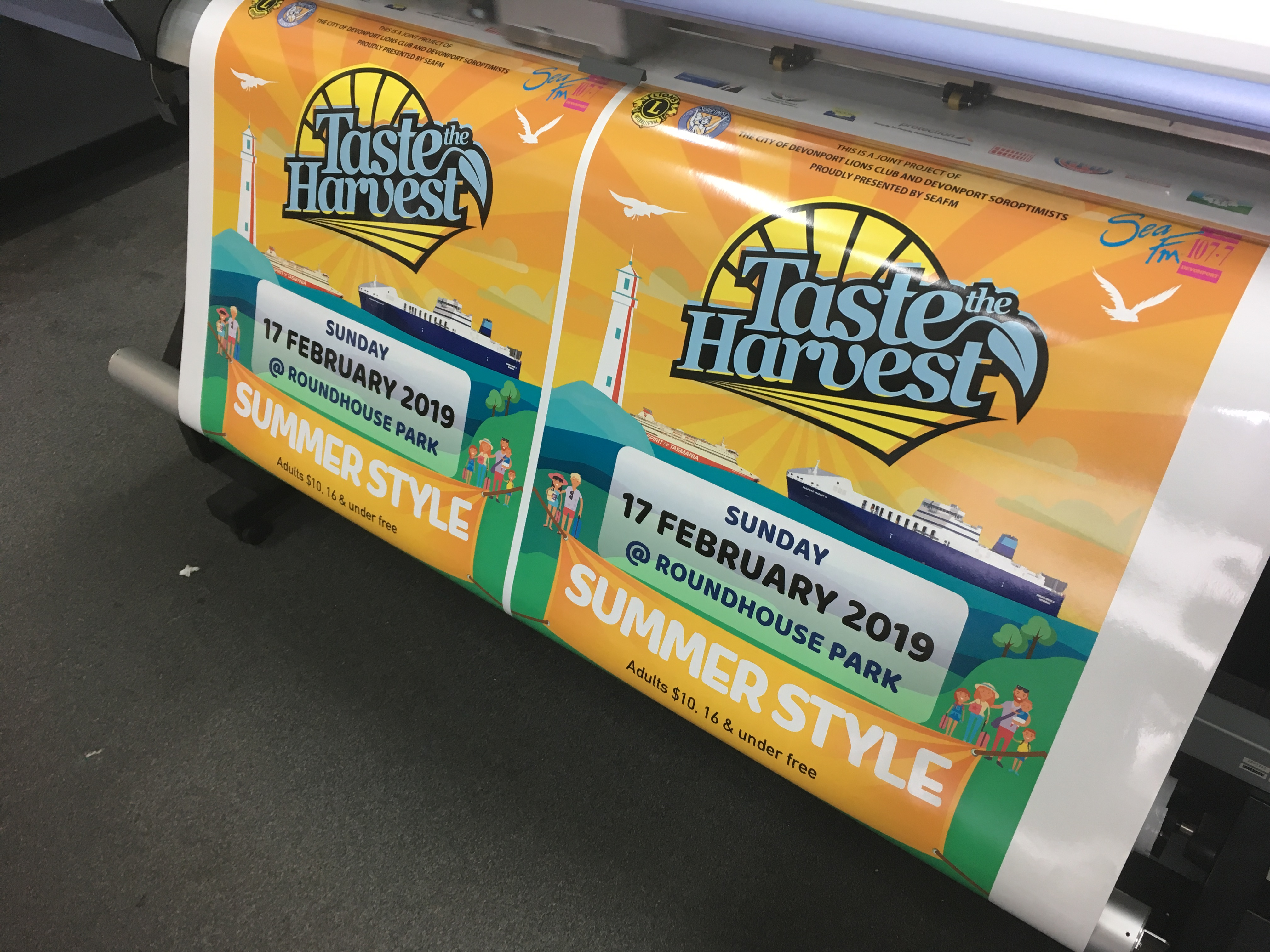 Event Signage being printed