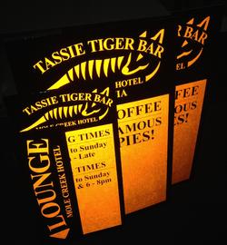 Reflective Orange Signs