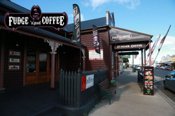 Wind Flags at Fudge 'n' Good Coffee