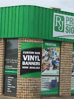 Custom Made Vinyl Banners