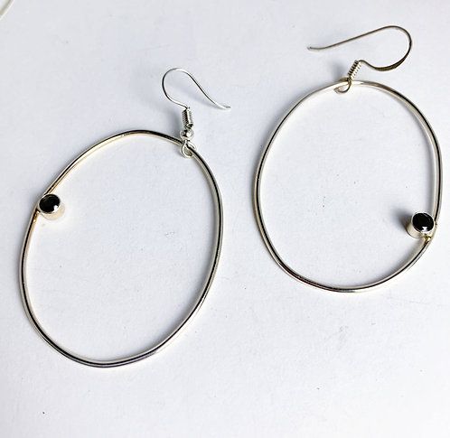 Circle and CZ Earrings