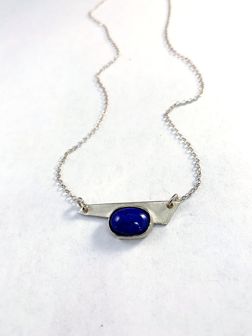 Tiny little Lapis set in Sterling Silver