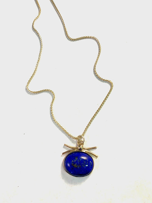 Lapis set in Sterling Silver