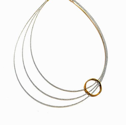 Modern Stainless Steel wire - Adjustable Bronze Circle.