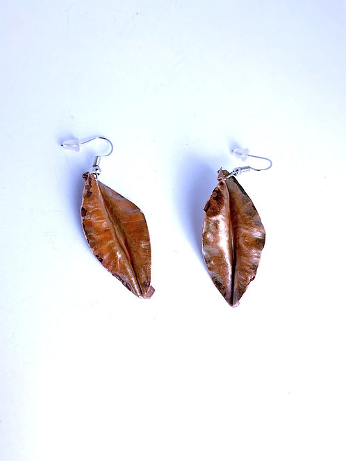 Copper fold formed earrings