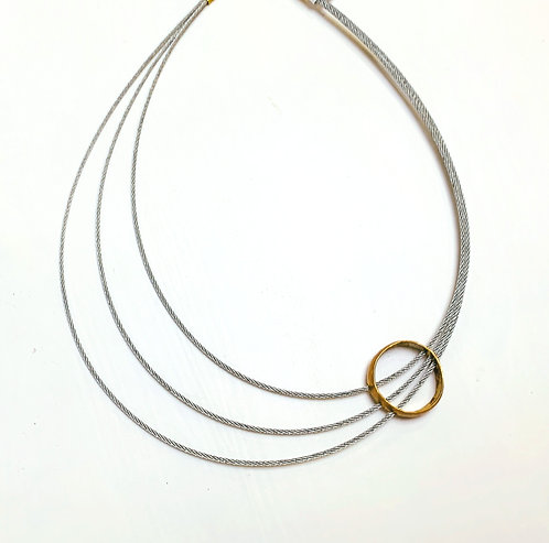 Modern Stainless Steel wire - Adjustable Bronze Circle.