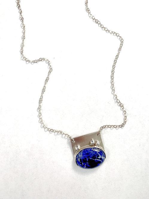 Dark blue Sodalite in Sterling Silver