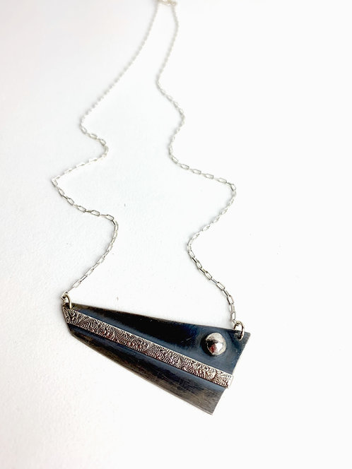 Angles and Accents - Sterling Silver Necklace