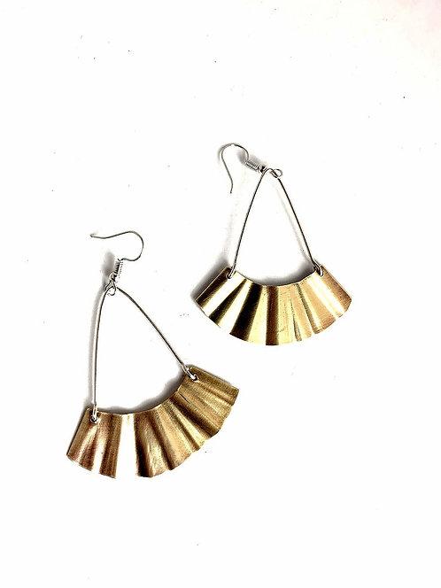 Bronze Fan Earrings