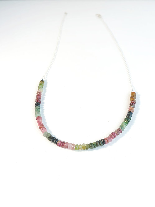 Tourmaline Faceted Gemstone Necklace