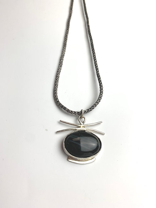 Black Agate Asian Necklace