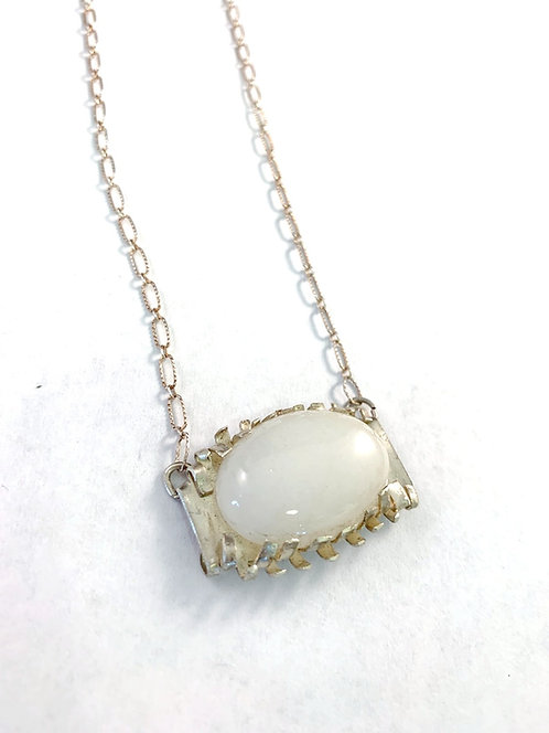 Moonstone with Tiny Fingers of Silver