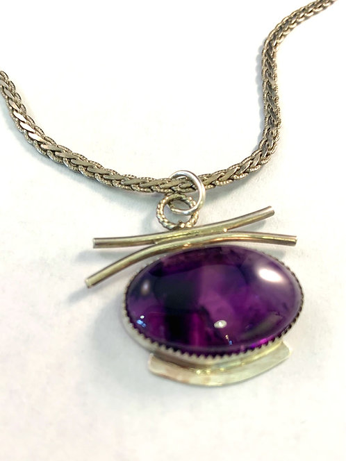 Asian influences Amethyst Necklace