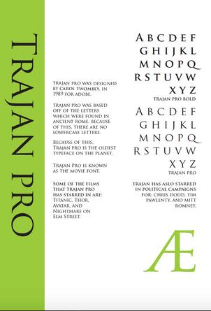 Specimen Sheet: Trajan Pro