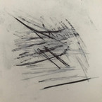 The transfer of the ballpoint pen drawing (refer to 2).