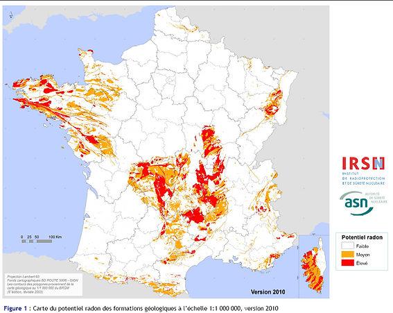 risque radon en France