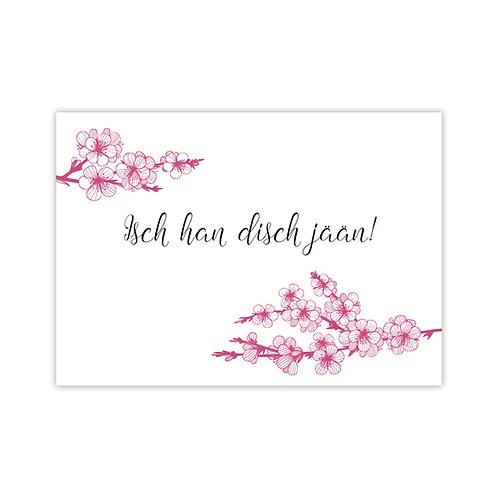 Ich hab Dich jään! Klappkarte Kirschblüte  4-seitig A6 inkl.Hülle