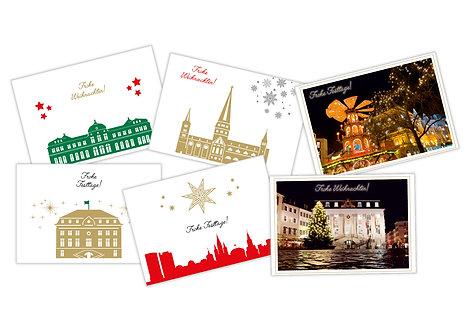 Weihnachtskarten  4-seitig A6 inkl.Hülle