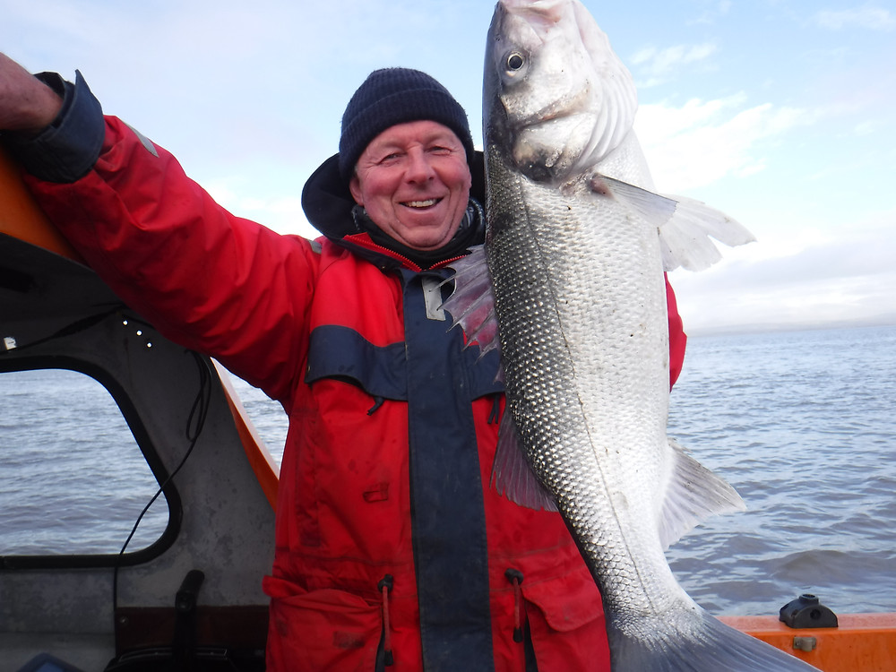 Black rock lave net fishery Chairman ,Paul with his Bass