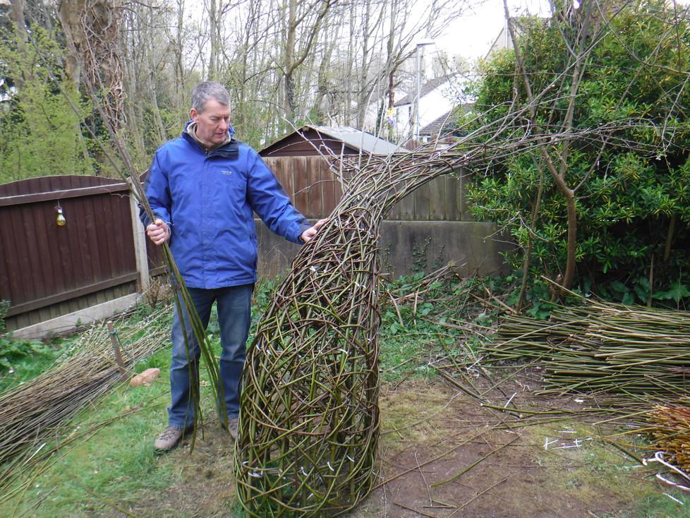 A willow sculpture