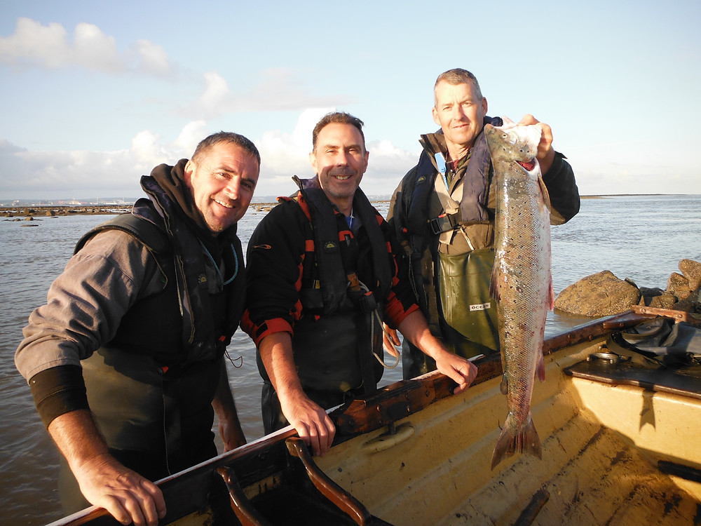 Rob ,Tim & Rich . Working hard for our fish !