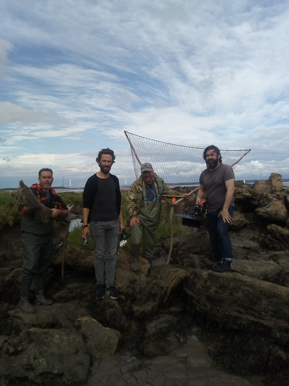 Our estuary guides with the Irish film makers