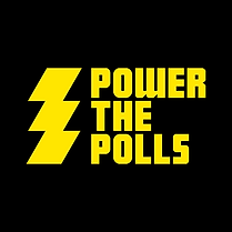 Power the Polls logo. When clicked, will link to Power the Polls website.