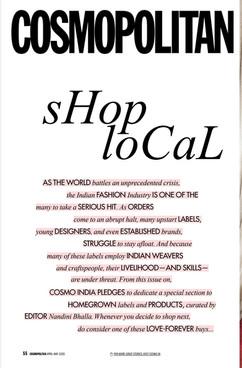 Cosmopolitan Magazine Shop Local