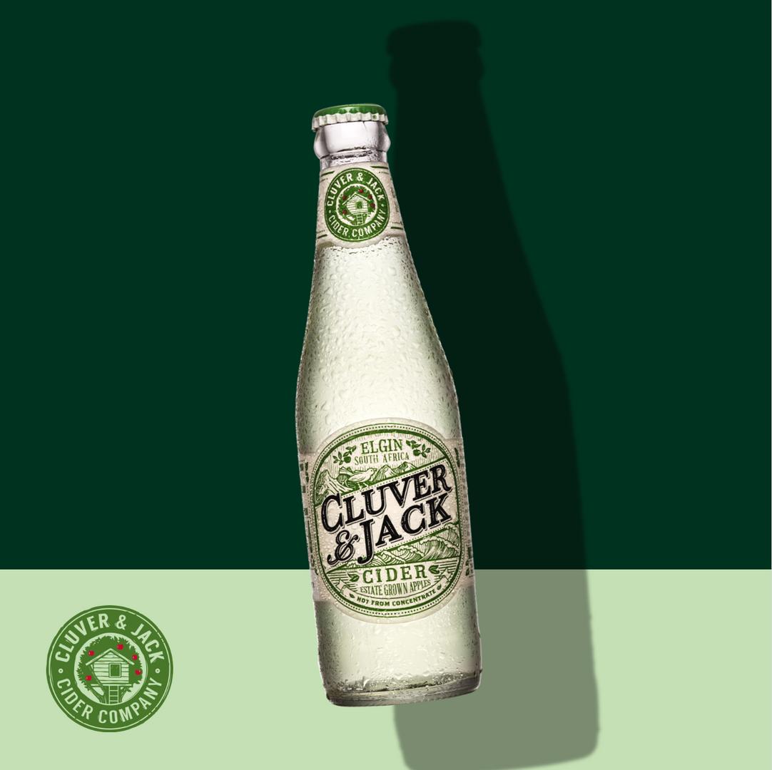 Cluver & Jack 100% Apple Cider. Made in South Africa