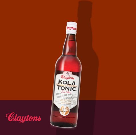 Claytons Kola Tonic Zero Proof. Since 1880