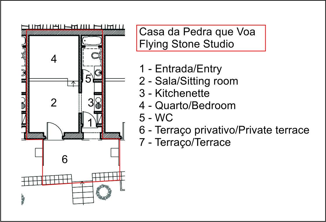 Casa da Pedra que Voa - Flying Stone Studio